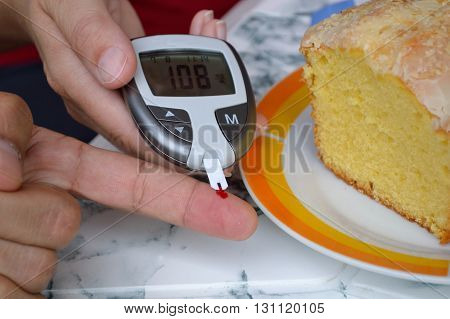 In patients blood glucose levels are measured