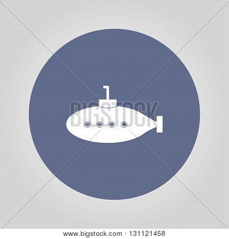 submarine icon. Flat design style eps 10