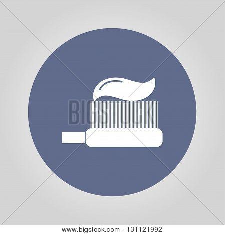 Toothbrush icon. Flat design style EPS 10