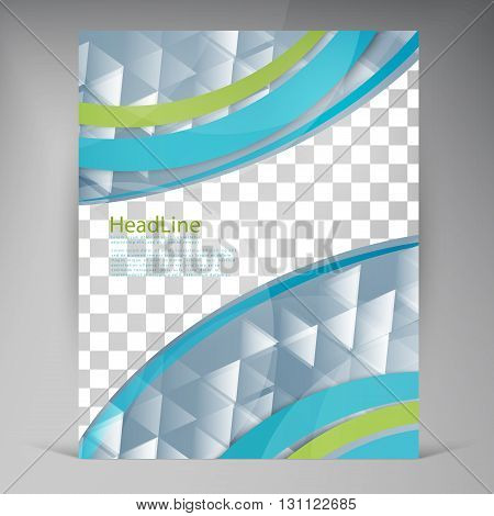 Abstract vector modern flyers brochure. Business brochure flyer design layout template in A4. Triangles