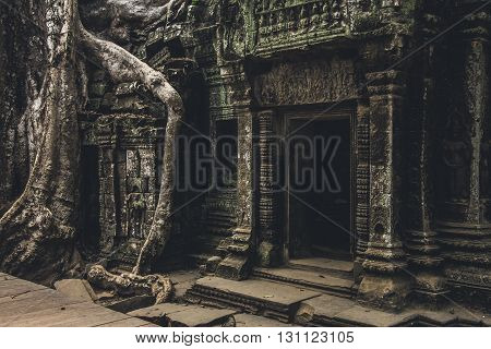 Entrance to a temple in Angkor Wat complex, Cambodia