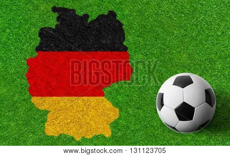 Football background with a flag - Germany