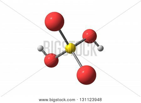 Sulfuric acid or sulphuric acid is a highly corrosive strong mineral acid with the molecular formula H2SO4. It is a pungent-ethereal colorless to slightly yellow viscous liquid which is soluble in water at all concentrations 3d illustration
