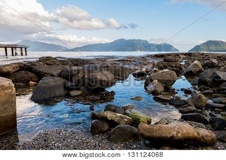 A rocky beach Scenery of Marmaris Turkey