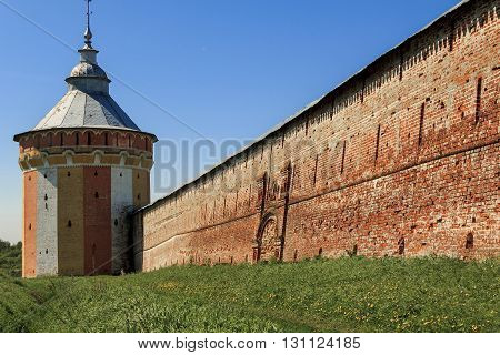 Vologda, Russia - May 29, It's fortress of the Spaso-Prilutsky Monastery May 29, 2013 in Vologda, Russia.