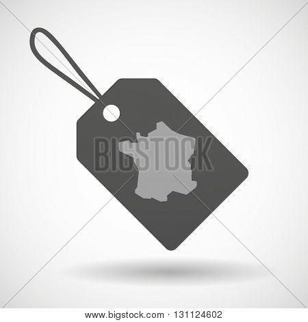 Isolated Shopping Label Icon With  The Map Of South Korea