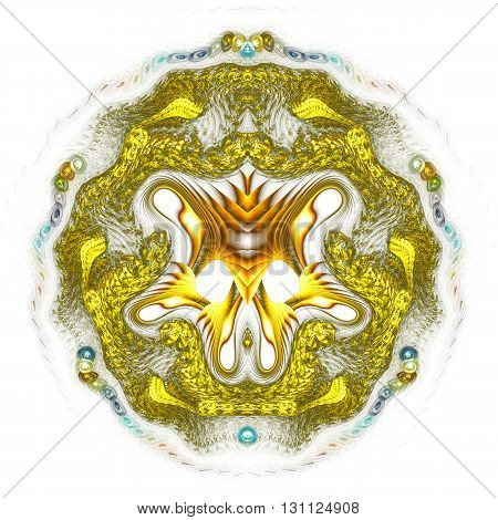 Cold extraterrestrial heart. Head of monstrous insect. Space dispute. Mysterious psychedelic relaxation wallpaper. Sacred geometry. Fractal abstract pattern. Digital artwork creative graphic design.