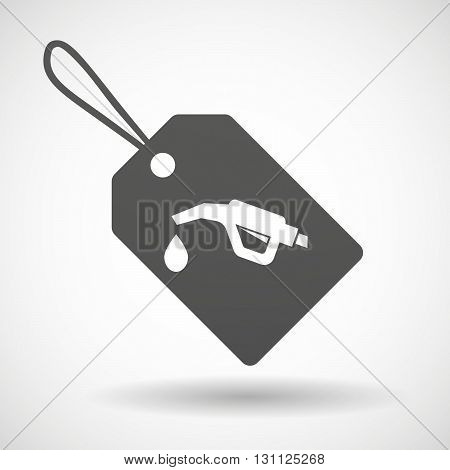 Isolated Shopping Label Icon With  A Gas Hose Icon