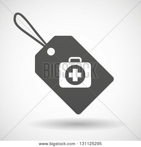 Isolated Shopping Label Icon With  A First Aid Kit Icon