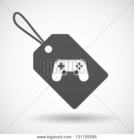 Isolated Shopping Label Icon With  A Game Pad