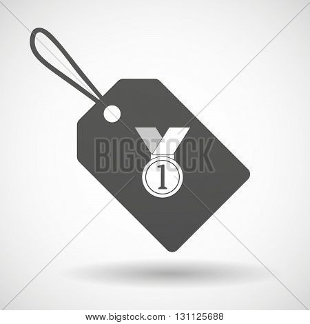 Isolated Shopping Label Icon With  A Medal