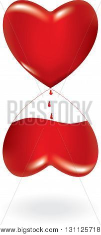 Vector illustration of concept of blood donation