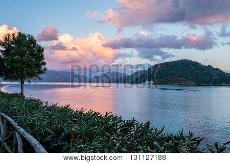 A Sea scenery at Marmaris  in Turkey