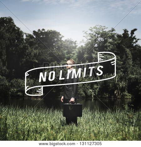 No Limits Creative Explore Freedom Inspire Concept
