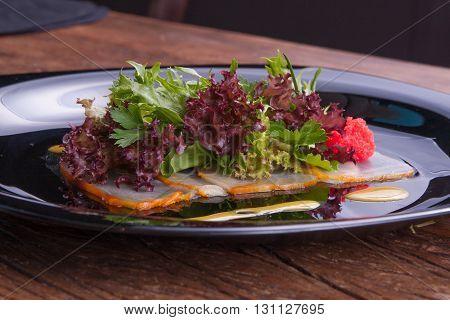 Gourmet Lettuce Salad Anti Pasto in Restaurant