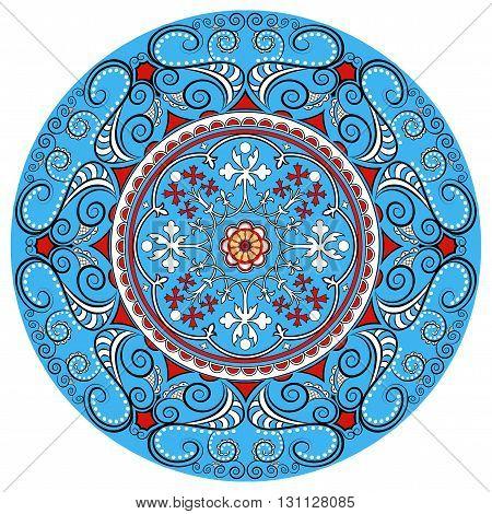 Mandala decoration, isolated design element. Zentangle style dec