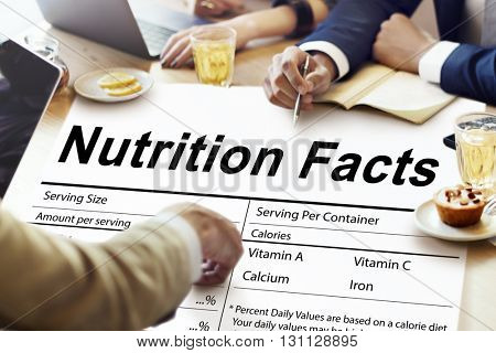 Nutrition Facts Health Medicine Eating Food Diet Concept