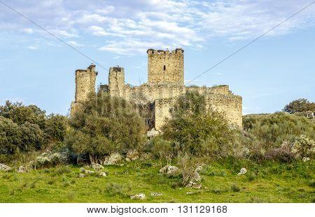 Aldea del Cano Castle Mayoralgo province of Caceres Extremadura Spain