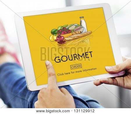 Gourmet Catering Cuisine Food Fresh Healthy Meal Concept