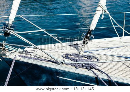 Detail of a sailing boat
