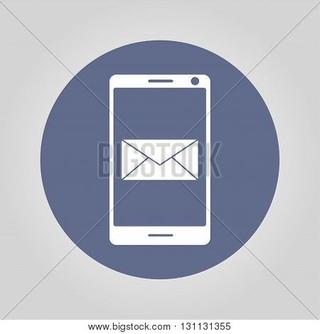 Smartphone Email Or Sms Icon. Mobile Mail Sign Simbol