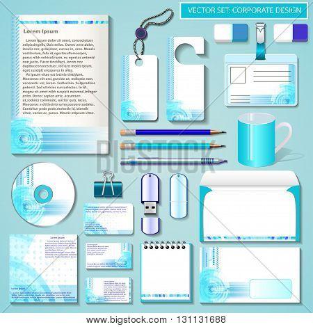 illustration set of design templates for Business