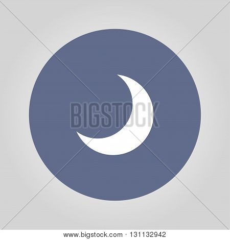 moon vector icon Flat design style EPS
