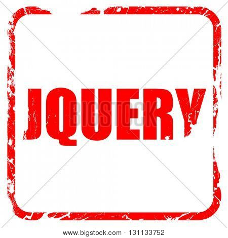 jQuery, red rubber stamp with grunge edges