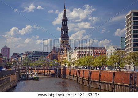 Hamburg. Image of Hamburg, Germany during spring day.