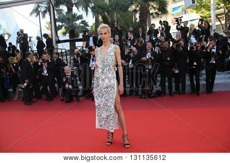 Aymeline Valade attends 'The Last Face' Premiere during the 69th annual Cannes Film Festival at the Palais des Festivals on May 20, 2016 in Cannes, France.