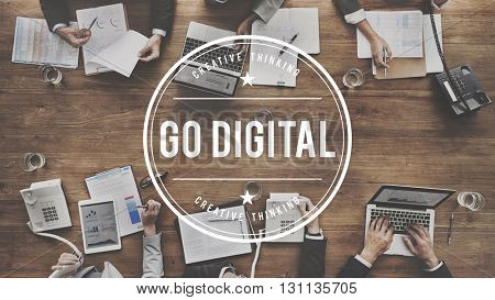 Go Digital Automation Modern Technology Concept