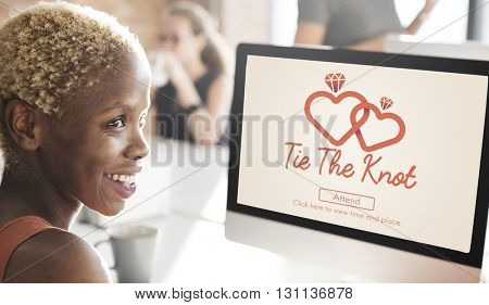 Tie The Knot Wedding Day Love Concept