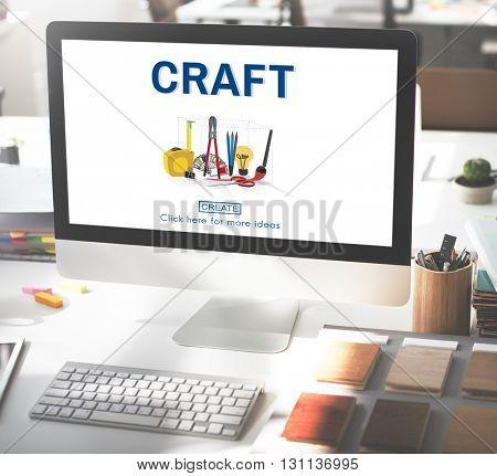 Craft Craftsman Instrument Tools Equipment Concept