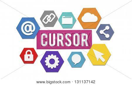 Cursor Technology Click Icon Access Concept