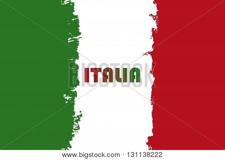 Vector Italian flag, Republic day illustration, second of June, modern grunge brush flag