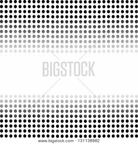 Dotted Black Background. Halftone Pattern. Comic Book Background