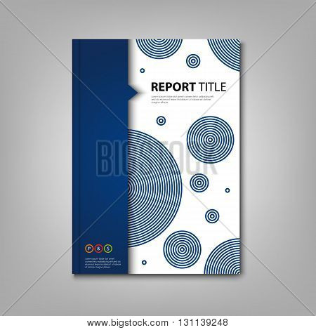 Brochures book or flyer with abstract blue design circles vector eps 10