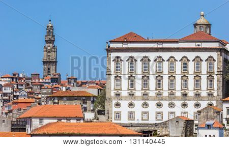 Paco Episcopal Building In The Historical Center Of Porto
