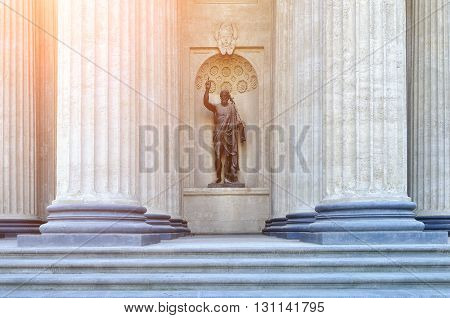 Statue of John the Baptist in the niche of the northern portico of the Kazan Cathedral Saint-Petersburg 1811