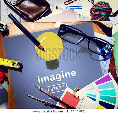 Imagine Think Innovate Visualize Ideas Concept