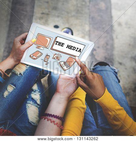 Social Media Digital Communication Internet Concept