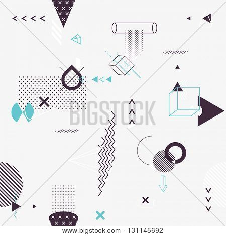 Seamless background of geometric elements