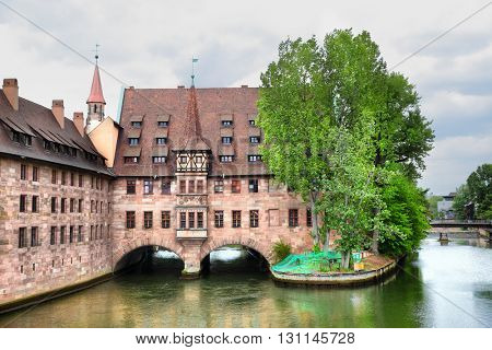 Heilig-Geist-Spital (Hospice of the Holy Spirit) in Nuremberg, Germany