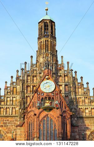 Church of Our Lady (Frauenkirche) in Nuremberg, Germany