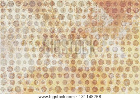 Yellow And Brown Dots Texture On Beige