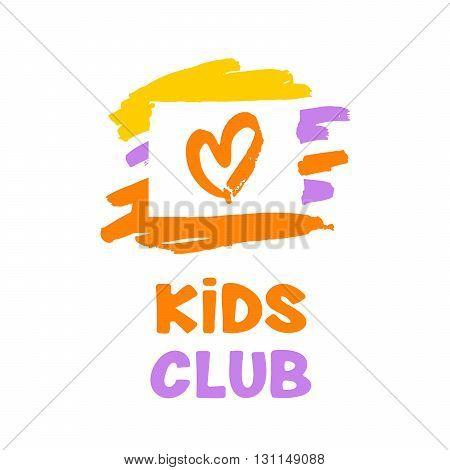 Kids Genius Exclusive Education Concept Illustration With Orange