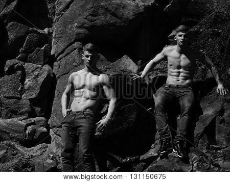 Two Athletic Men
