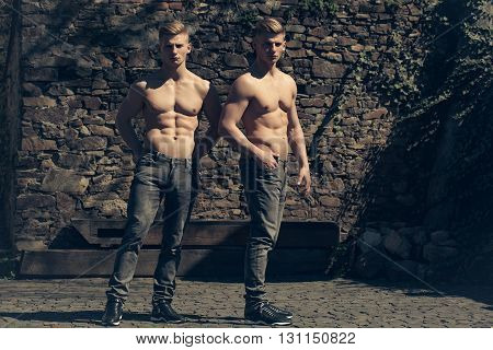 Young Sensual Twin Brothers