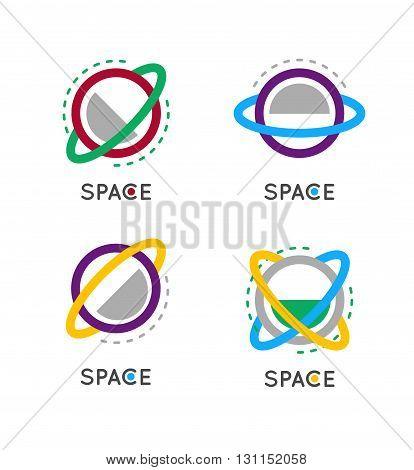 Outline Globe Vector Icon. Space Vector Logo. Business Vector Concept Logo.