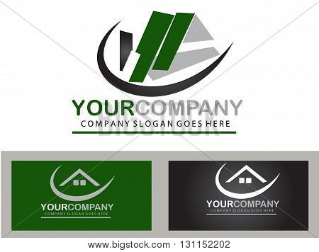 Abstract real estate logo design for your company